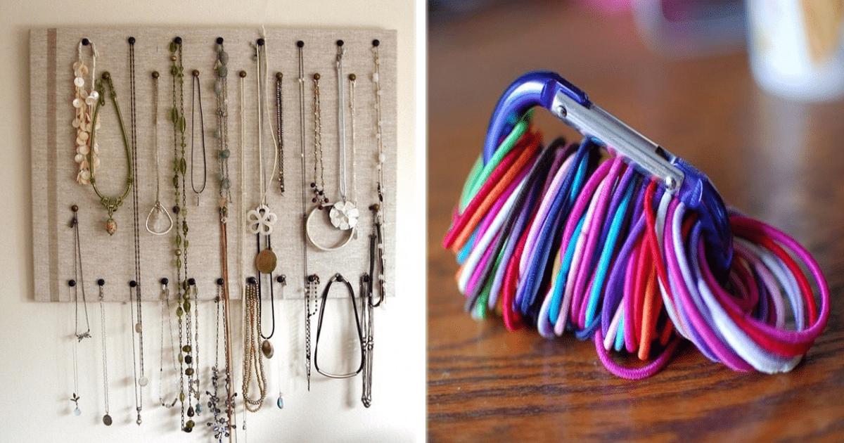 13 Sencillas formas de guardar y organizar cosas pequeñas.