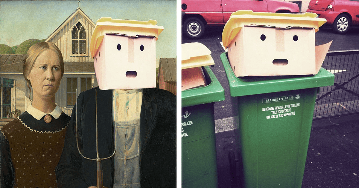 Un basurero que se parecía a Donald Trump desató otra batalla de Photoshop.