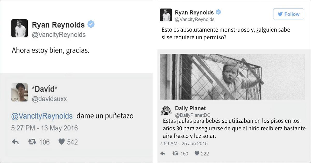 Los 10 tweets más geniales e hilarantes de Ryan Reynolds.
