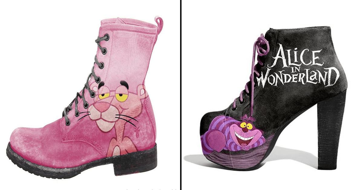 ¡17 Increíbles diseños de zapatos inspirados en personajes de películas!