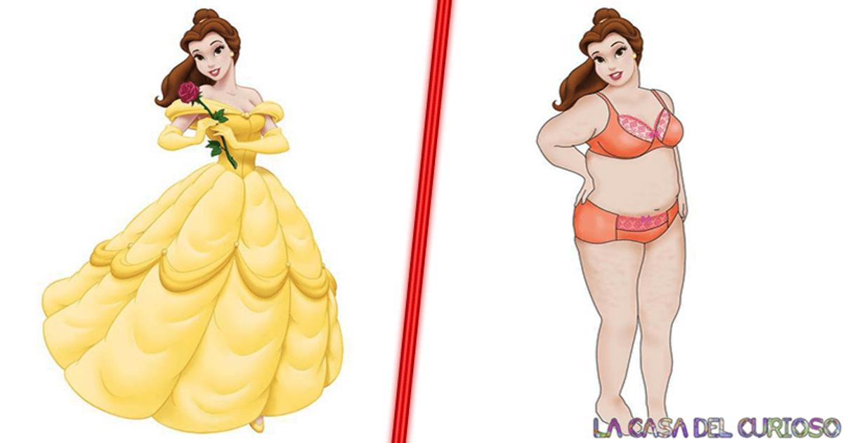 Así lucirían las princesas de Disney en lencería si fueran talla extra, ¡Se ven hermosas!