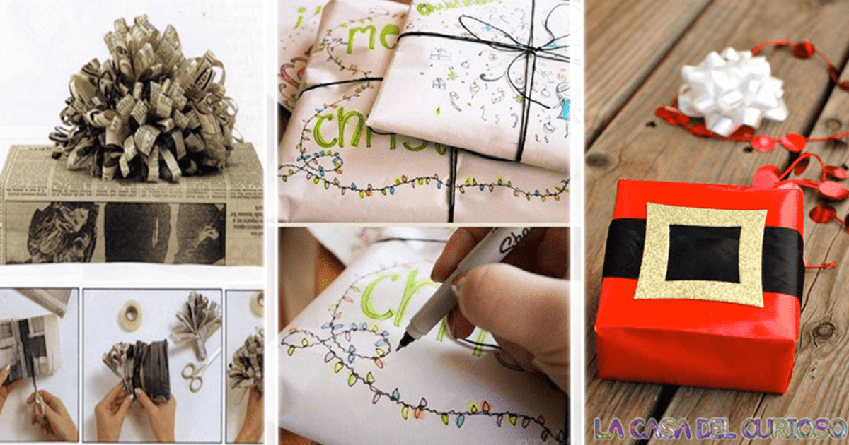 Envolturas fáciles y hermosas para decorar regalos