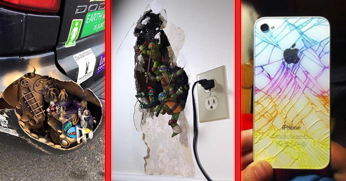 ¡12 personas que abusaron de creatividad para componer sus objetos rotos!