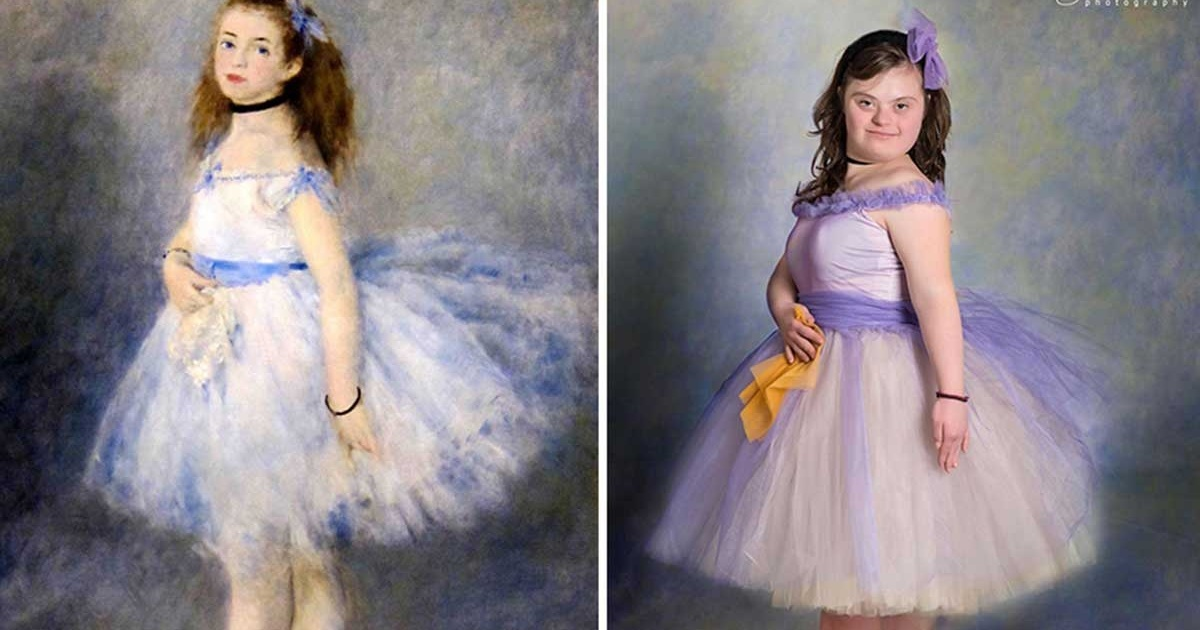 Niños con Síndrome de Down recrean pinturas famosas con resultados hermosos