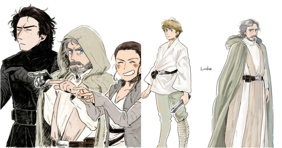 Genial arte anime de Star Wars para emocionarte previo al estreno de El Último Jedi