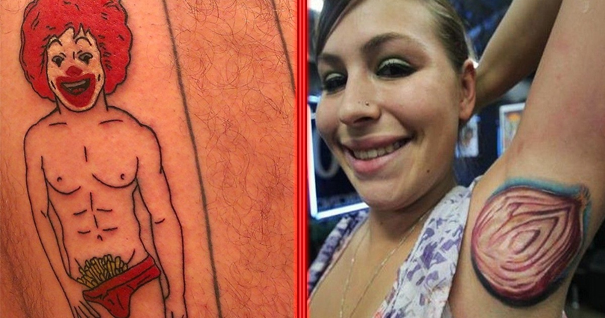 17 Tatuajes verdaderamente terribles que no deberían existir.