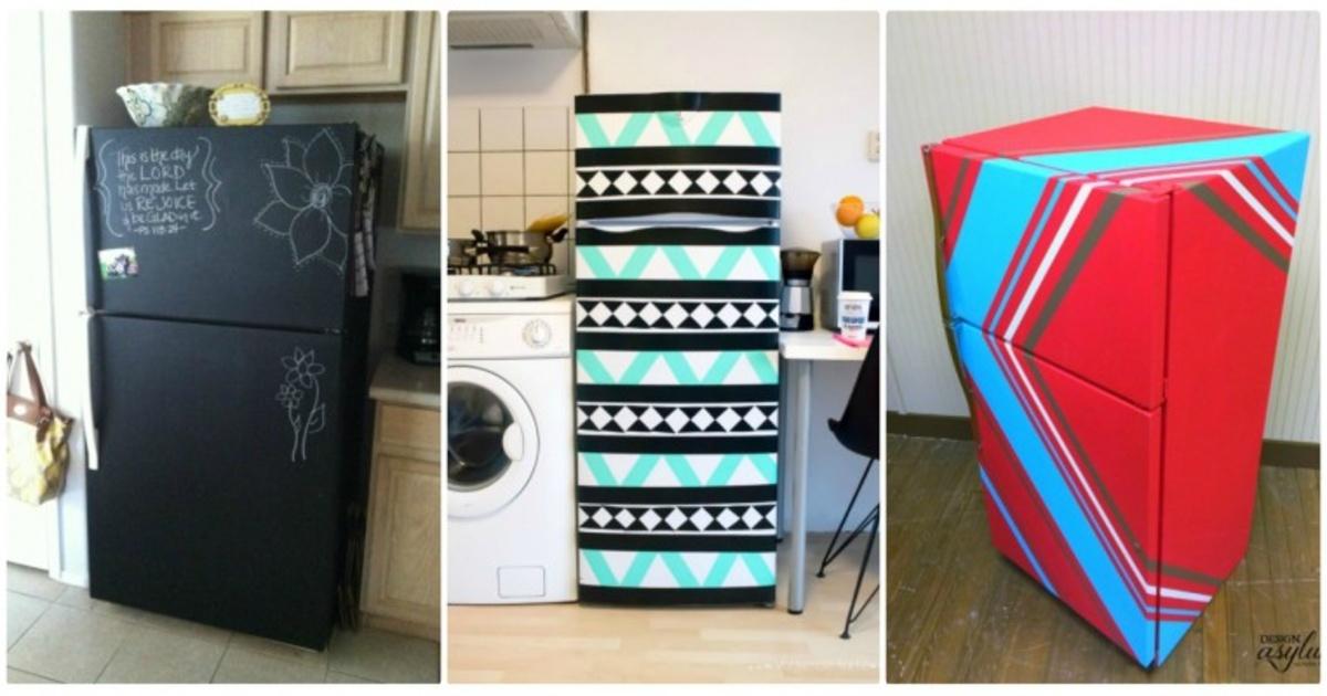 12 originales maneras de transformar tu refrigerador en - Decoracion de neveras ...
