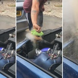Why you should not open the radiator with boiling water (sensitive images)
