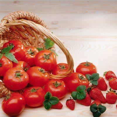 Los tomates y las fresas
