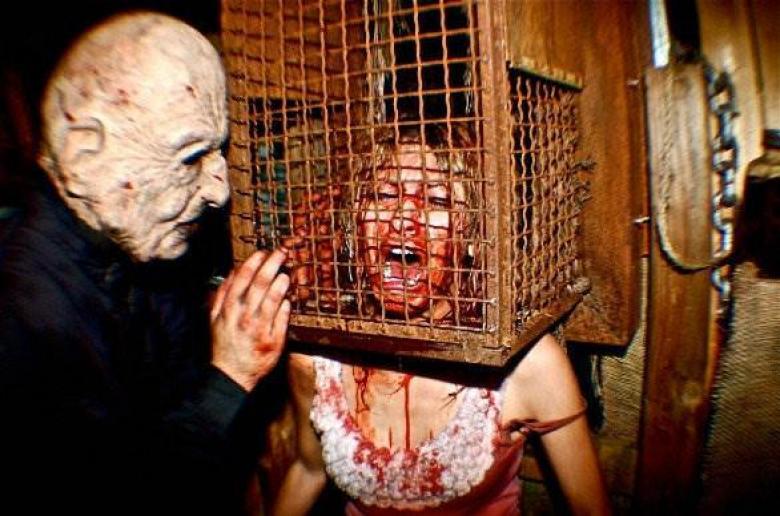 Espanto de casa del terror.